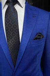 Penye Mavi Ceket - Thumbnail