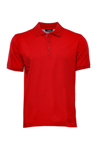 Polo Yaka Düz Kırmızı T-shirt   Wessi