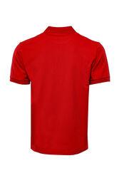 Polo Yaka Düz Kırmızı T-shirt   Wessi - Thumbnail