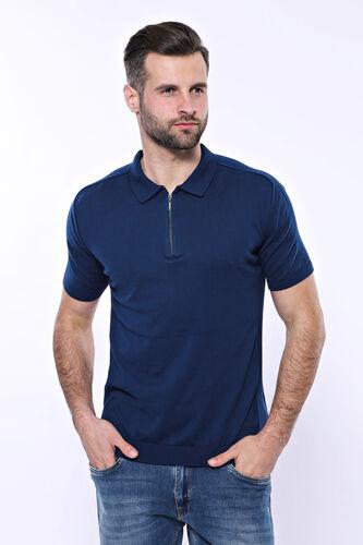 Polo Yaka Parlament Düz Örme T-shirt   Wessi