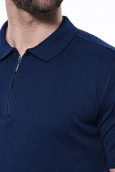 Polo Yaka Parlament Düz Örme T-shirt   Wessi - Thumbnail