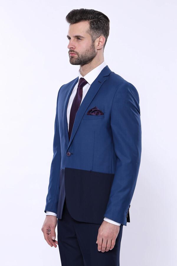 Renk Geçişli Lacivert Takım Elbise | Wessi