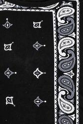 Siyah Baskılı Desenli Bisiklet Yaka Sweatshirt - Thumbnail