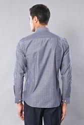 Kare Desen Gri Uzun Kollu Gömlek | Wessi - Thumbnail