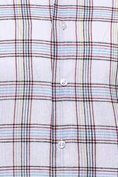 Ekose Desen Beyaz Uzun Kollu Gömlek   Wessi - Thumbnail