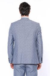 Tek Düğme Sivri Yaka Açık Lacivert Yelekli Takım Elbise | Wessi - Thumbnail