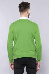 V yaka Yeşil Triko | Wessi - Thumbnail