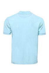 Polo Yaka Düz Açık Mavi T-shirt | Wessi - Thumbnail