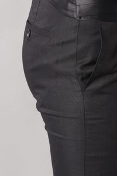 Yaka İnce Biyeli Siyah Damatlık Takım Elbise | Wessi - Thumbnail