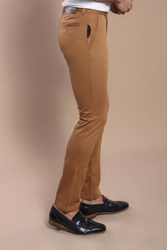 Yan Cepli Taba Pamuk Pantolon | Wessi - Thumbnail