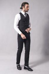 Yelekli Kombinli Gri Takım Elbise | Wessi - Thumbnail