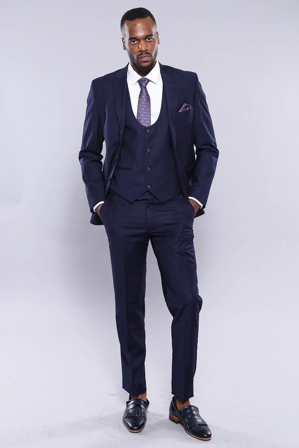 Yelekli Lacivert Takım Elbise | Wessi