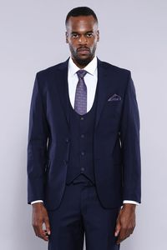 Yelekli Lacivert Takım Elbise | Wessi - Thumbnail