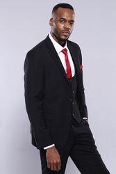 Yelekli Siyah Erkek Takım Elbise | Wessi - Thumbnail