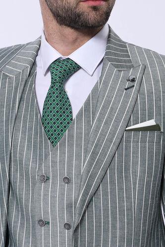 Yeşil Çizgili Takım Elbise