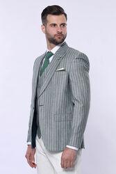 Yeşil Çizgili Takım Elbise - Thumbnail