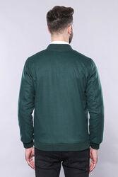 Yeşil Desensiz Erkek Bomber Mont   Wessi - Thumbnail