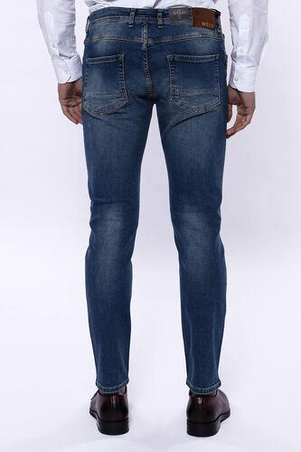 Yıkamalı Koyu Mavi Kot Pantolon | Wessi