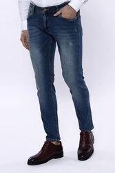 Yıkamalı Koyu Mavi Kot Pantolon | Wessi - Thumbnail
