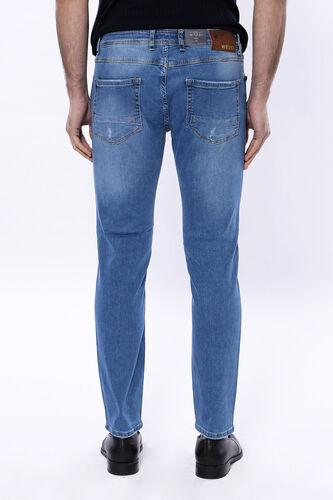 Yıkamalı Mavi Kot Pantolon | Wessi