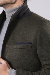Yün Tek Düğmeli Yeşil Slim Fit Ceket | Wessi - Thumbnail
